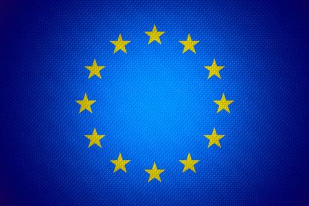 european union flag: European Union flag or banner on abstract texture