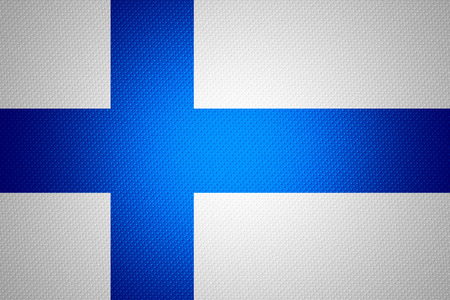 finland flag: Finland flag or Finnish banner on abstract texture
