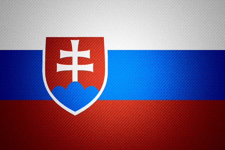 slovakia flag: Slovakia flag or Slovakian banner on abstract texture