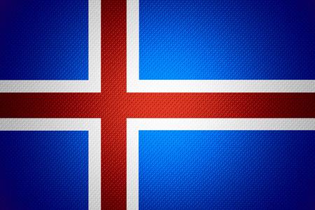 flag of iceland: Bandera de Islandia o la bandera de Islandia en la textura abstracta