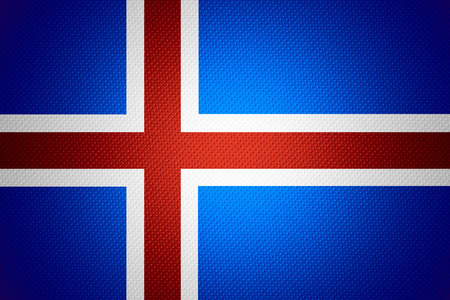 iceland flag: Iceland flag or Icelandic banner on abstract texture Stock Photo