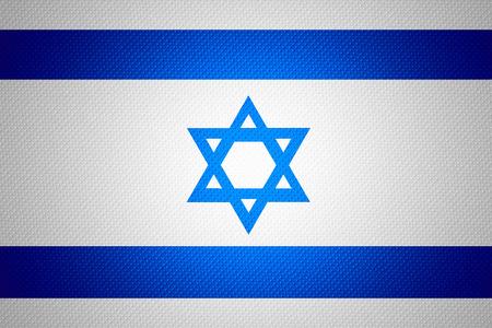 israel flag: Israel flag or Israeli banner on abstract texture