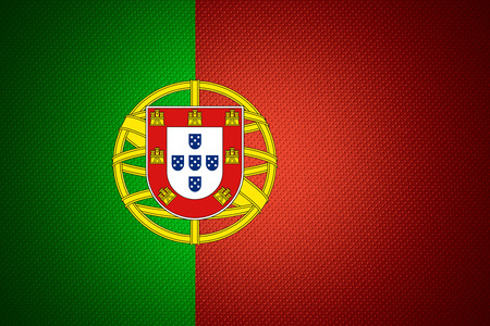 portugal flag: Portugal flag or Portuguese banner on abstract texture