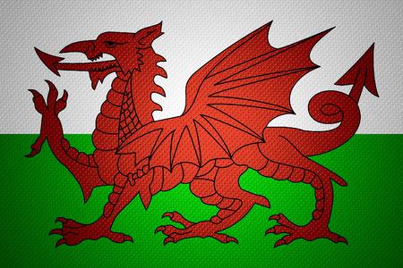 welsh flag: Galles bandiera o striscione gallese su texture astratta