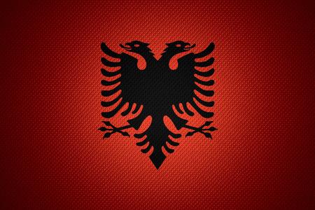 albanian: Albania flag or Albanian banner on abstract texture