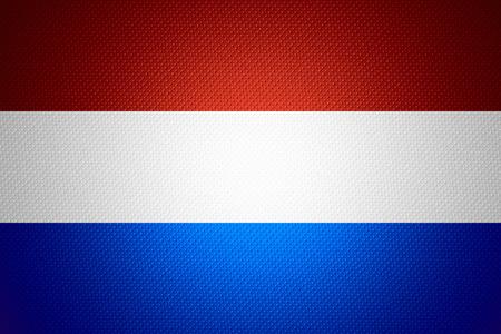 drapeau hollande: Hollande drapeau ou une banni�re n�erlandaise sur abstract texture Banque d'images