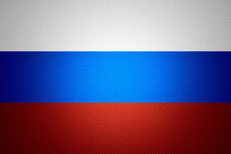 russia flag: Russia flag or Russian banner on abstract texture Stock Photo