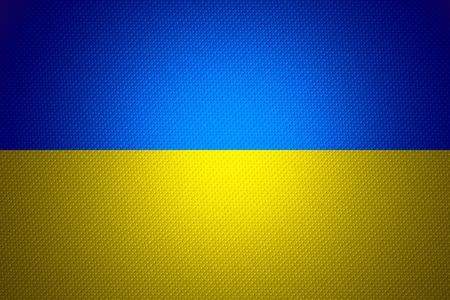 ukraine flag: Ukraine flag or banner on abstract texture Stock Photo