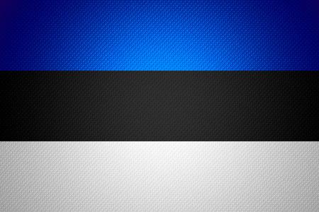 estonian: Estonia flag or Estonian banner on abstract texture