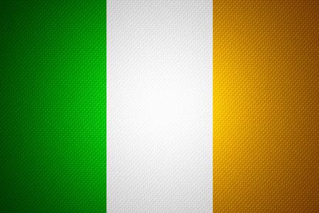 bandera irlanda: Bandera de Irlanda o la bandera de Irlanda en la textura abstracta