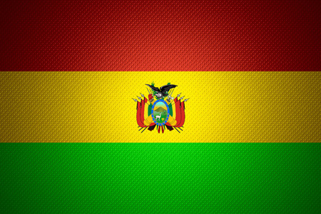 bolivian: Bolivia flag or Bolivian banner on abstract texture Stock Photo