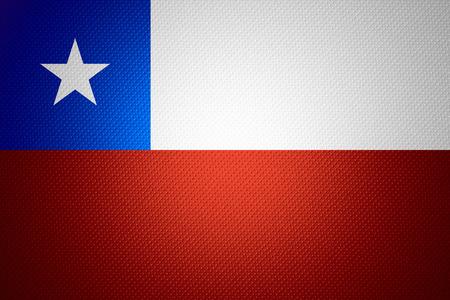 bandera de chile: Bandera de Chile o la bandera chilena en la textura abstracta Foto de archivo