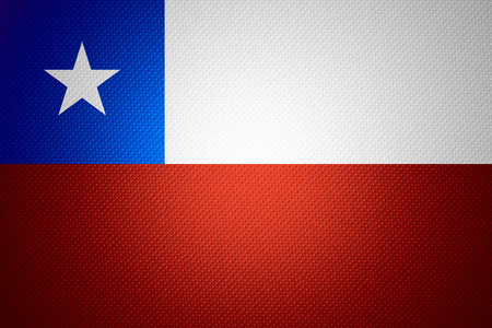 chilean flag: Chile flag or Chilean  banner on abstract texture