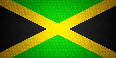 jamaican flag: Jamaica flag or Jamaican banner on abstract texture Stock Photo