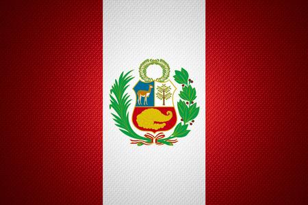 bandera peru: Bandera de Per� o la bandera peruana en la textura abstracta Foto de archivo