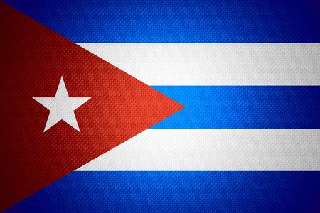 bandera cuba: Bandera de Cuba o la bandera cubana en la textura abstracta Foto de archivo