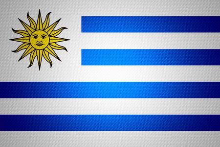 uruguay flag: Uruguay flag or Uruguayan banner on abstract texture Stock Photo