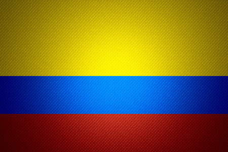 colombia flag: Colombia flag or Colombian banner on abstract texture
