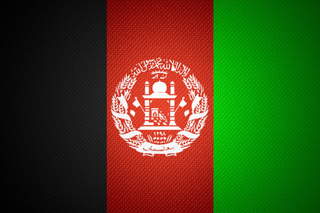 afghanistan flag: Afghanistan flag or Afghan banner on abstract texture
