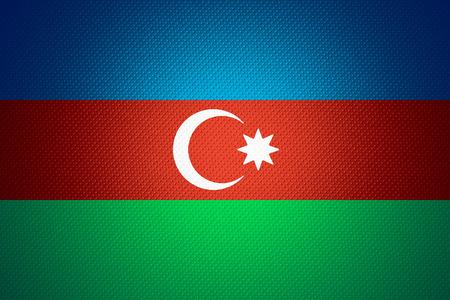 azerbaijani: Azerbaijan flag or Azerbaijani banner on abstract texture Stock Photo