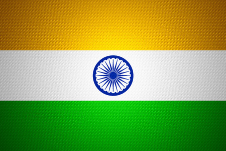 india flag: India flag or banner on abstract texture
