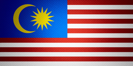 Malaysia flag or Malaysian banner on abstract texture Stock Photo
