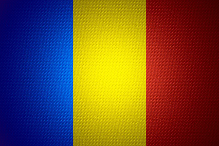 chad flag: Chad flag or banner on abstract texture Stock Photo