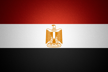 egypt flag: Egypt flag or Egyptian  banner on abstract texture Stock Photo