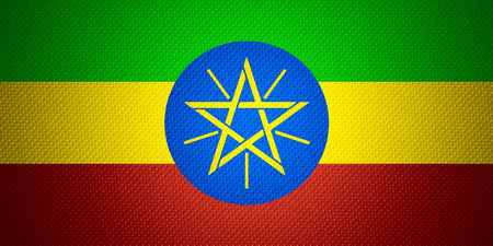 ethiopia flag: Ethiopia flag or Ethiopian banner on abstract texture
