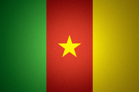 cameroonian: Cameroon flag or Cameroonian banner on abstract texture