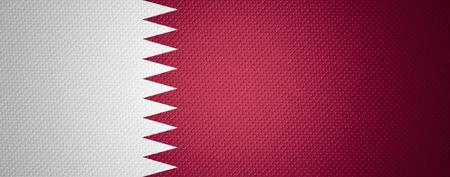 qatar: Qatar flag or Qatari banner on abstract texture