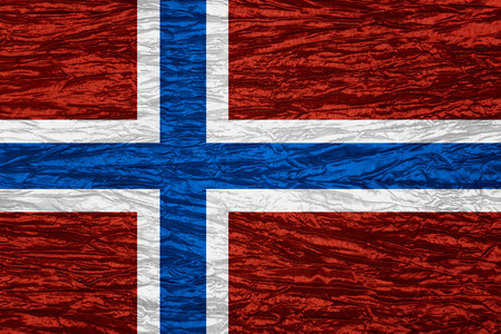 norway flag: flag of Norway or Norwegian banner on canvas texture