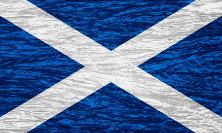 scottish flag: bandiera della Scozia o un banner scozzese su tela texture