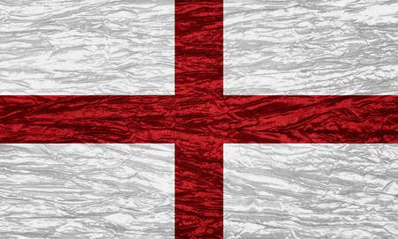 bandiera inghilterra: Inghilterra bandiera o striscione inglese su tela texture