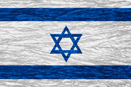 israeli: flag of Israel or Israeli banner on canvas texture