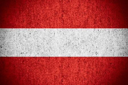 austrian: flag of Austria or Austrian banner on rough pattern texture