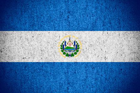 el salvadoran: flag of El Salvador or Salvadoran banner on rough pattern texture