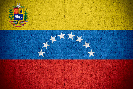 venezuelan: flag of Venezuela or Venezuelan banner on rough pattern texture