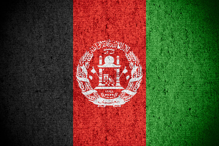 afghan: flag of Afghanistan or Afghan banner on rough pattern texture