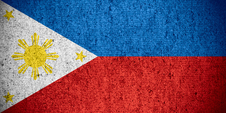 philippino: flag of the Philippines or Philippino banner on rough pattern texture