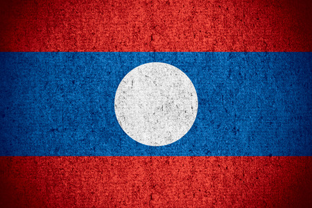 lao: flag of Laos or Lao banner on rough pattern texture