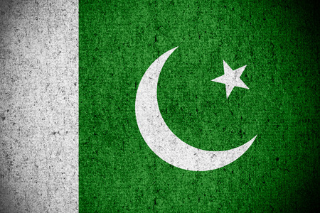 pakistani pakistan: flag of Pakistan or Pakistani banner on rough pattern texture