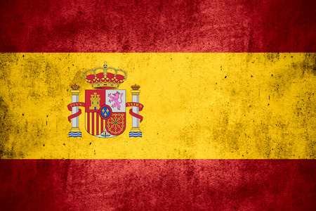 flag of Spain or Spanish banner on rough pattern texture background