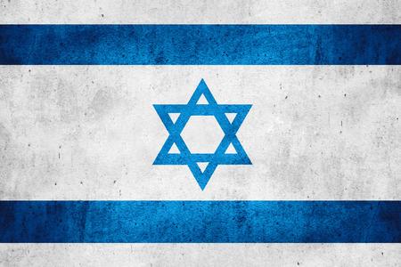 거친 패턴 질감 배경에 이스라엘이나 이스라엘 배너의 국기 스톡 콘텐츠