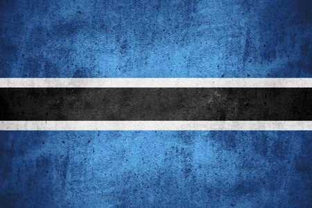 botswanan: flag of Botswana or Botswanan banner on rough pattern texture background