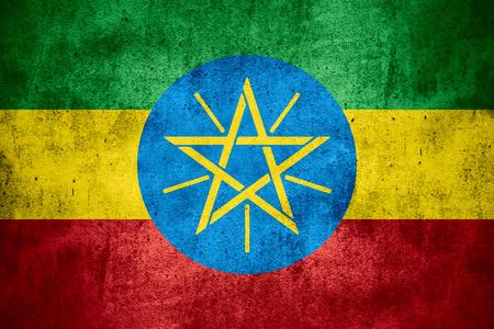 ethiopian: flag of Ethiopia or Ethiopian banner on rough pattern texture background