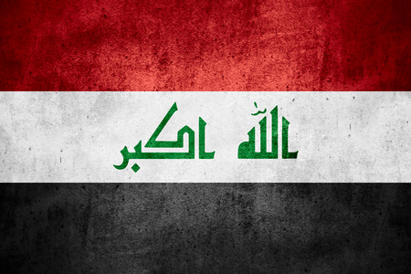 iraqi: flag of Iraq or Iraqi banner on rough pattern texture background