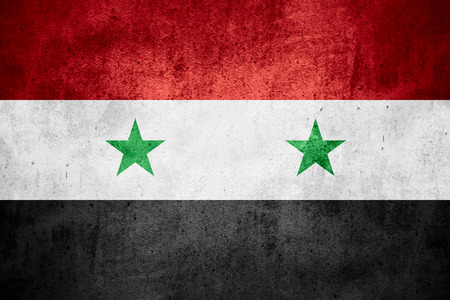 syrian: flag of Syria or Syrian banner on rough pattern texture background