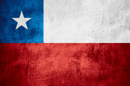 chilean flag: flag of Chile or Chilean banner on rough pattern texture background