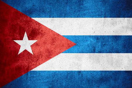 bandera cuba: bandera de Cuba o la bandera cubana en el patr�n de �spera textura de fondo